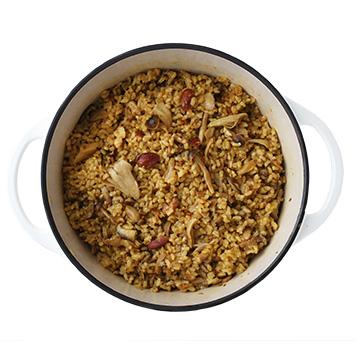 きのことナッツの玄米ビリヤニ