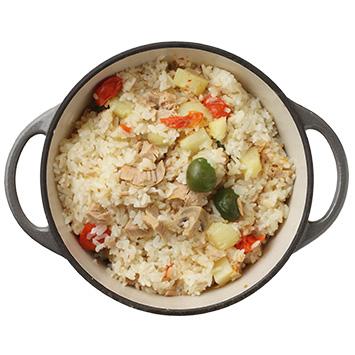 ジャガイモとツナの炊き込みご飯