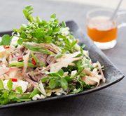 牛しゃぶ肉と香味野菜のエスニック豆腐サラダ仕立て