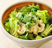 白身魚とミントのサラダ