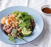 昆布酢の香菜ライスサラダ