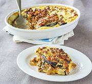 カボチャとナス、挽肉の重ね焼き