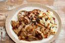 豚肉とグリル野菜のはちみつジンジャーソース