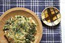 牡蠣と春菊のチヂミ