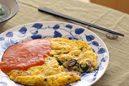 バジルと牡蠣の台湾風オムレツ