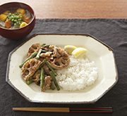 軽い塩豚と野菜の炒め物
