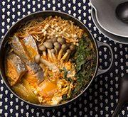 鮭の西京漬けのチゲ鍋