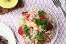 ヤムウンセン タイの春雨サラダ&黒米入りジャスミンライス