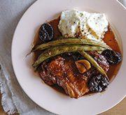 鶏肉といんげんのバルサミコ酢煮 マッシュポテト添え