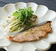 秋鮭と長ねぎの塩麹ホイル焼き