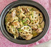 レンコンの味噌クリームオーブン焼き