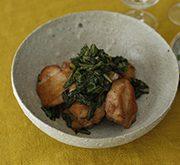 鶏肉と春菊のソテー