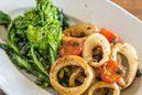 イカと菜の花の焦がしバターソテー