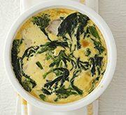 メカジキと菜の花の卵グラタン