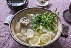 鶏とカリフラワーのレモン鍋