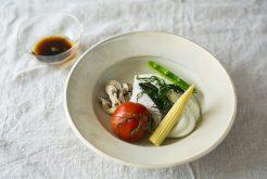 白身魚と野菜のディル蒸し