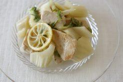 セロリと鶏むね肉のソテーマリネ