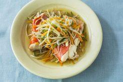 金目鯛の野菜蒸し