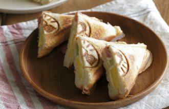 焼き豚ホットサンド&フルーツホットサンドのレシピ byフードコーディネーター みなくちなほこさん