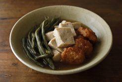 いんげんと凍らせ豆腐の煮もの