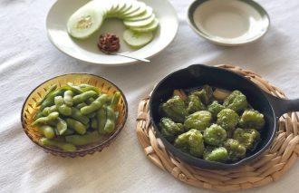 「わたしの晩酌 夏のグリーン野菜を使ったおつまみ」村山由紀子