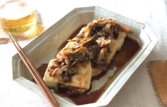 「わたしの晩酌 豆腐ステーキ 舞茸のソースで」村山由紀子