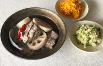 「わたしの晩酌 れんこんと豚スペアリブのナンプラー煮」 村山由紀子