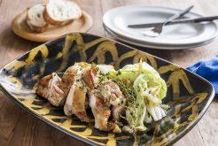 鶏肉と白菜のハーブ醤油ソテー