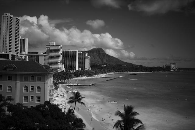 ダイヤホテルからモンドヘッドを眺める景色