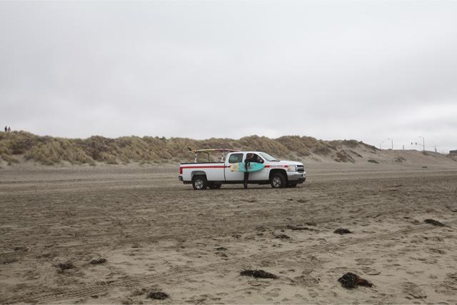 サンセットビーチの何気ない風景