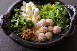 鶏つくねと香り野菜の鍋